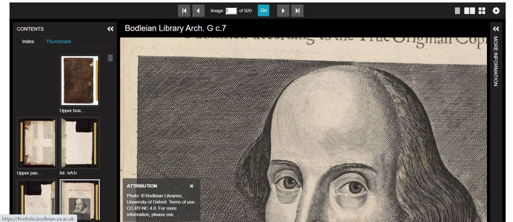 Bodleian First Folio online
